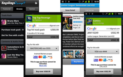 Android Market In app Billing