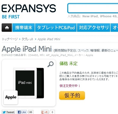 expansys ipad mini